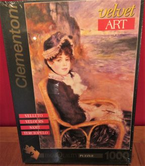 Image of the puzzle 1000, Clementoni, By the Seashore, by Renoir, Factory Sealed, Picture of the box