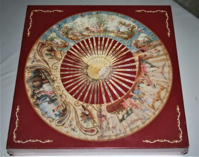 Image of the puzzle 500, Past Times, Rococo Fans 2, Factory Sealed, Picture of the box
