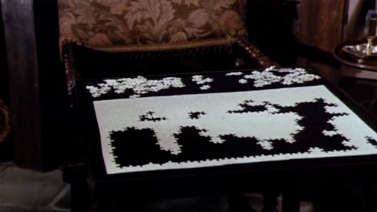 White Puzzle in the movie Sleuth (1972)