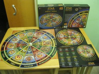 Image of the puzzle 625, Mind Games, Star Encounters, Complete, Picture of the box and the puzzle