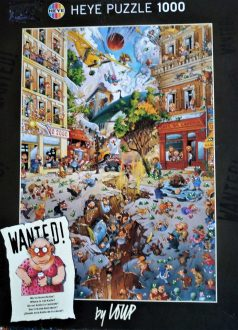 Image of the puzzle 1000, Heye, Wanted! Where is Jail Katie?, by Jean-Jacques Loup, Complete, Picture of the box