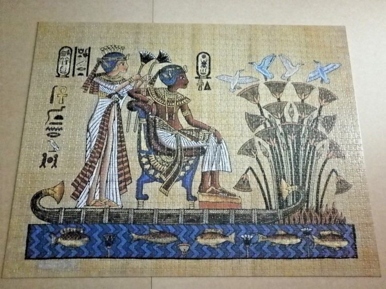 Image of the puzzle 2000, Nathan, The Pharaoh and his Wife, Complete, Picture of the puzzle asembled