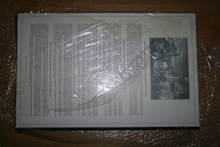 Image of the puzzle 5000, Falcon, The Attack and taking of Ratisbon, by Charles Thévenin, Factory Sealed, Picture of the back