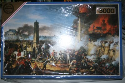 Image of the puzzle 5000, Falcon, The Attack and taking of Ratisbon, by Charles Thévenin, Factory Sealed, Picture of the box