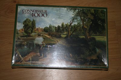 Image of the puzzle 4000, Arrow, Flatford Mill, by John Constable, Factory Sealed, Picture of the box