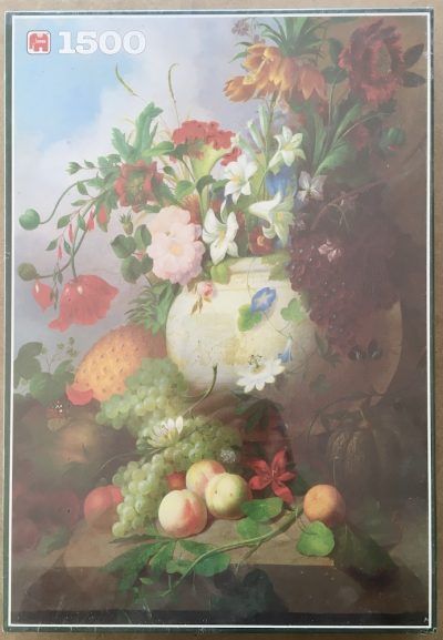 Image of the puzzle 1500, Jumbo, A Vase of Summer Flowers, by Joseph Rhodes, Factory Sealed