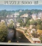 Image of the puzzle 5000, Educa, A Yorkshire Town, Great Britain, Factory Sealed, Picture of the box