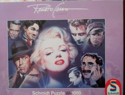 Image of the puzzle 1000, Schmidt, Marilyn Monroe and Friends, by Renato Casaro, Complete, Picture of the box