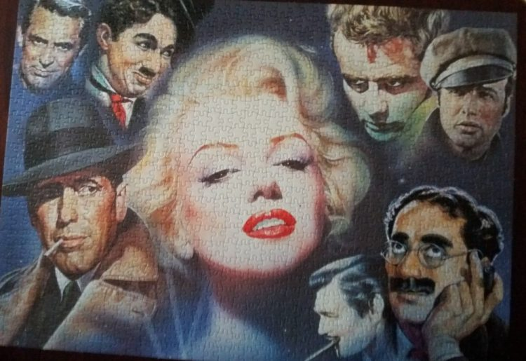 Image of the puzzle 1000, Schmidt, Marilyn Monroe and Friends, by Renato Casaro, Complete, Picture of the puzzle assembled