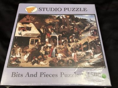 Image of the puzzle 1500, Bits & Pieces, Netherlandish Proverbs, by Pieter Bruegel the Elder, Factory Sealed