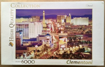 Image of the puzzle 6000, Clementoni, Las Vegas, Sealed Bag, Picture of the box