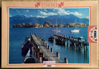 Image of the puzzle 1500, Educa, Lake Chiem, Germany, Picture of the box