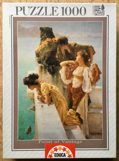 Image of the puzzle 1000, Educa, Point of Vantage, by Sir Lawrence Alma-Tadema, Complete, Picture of the box