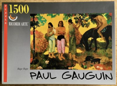 Image of the puzzle 1500, Ricordi, Rupe Rupe, by Paul Gauguin, Sealed Bag, Picture of the box