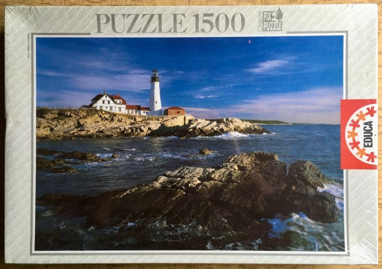 Image of the puzzle 1500, Educa, Portland Head Lighthouse, Maine, USA, Factory Sealed