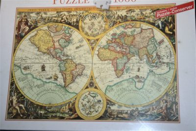 Image of the puzzle 1000, Blatz, Historical Map of the World, by Joan Baptista Vrints, Factory Sealed