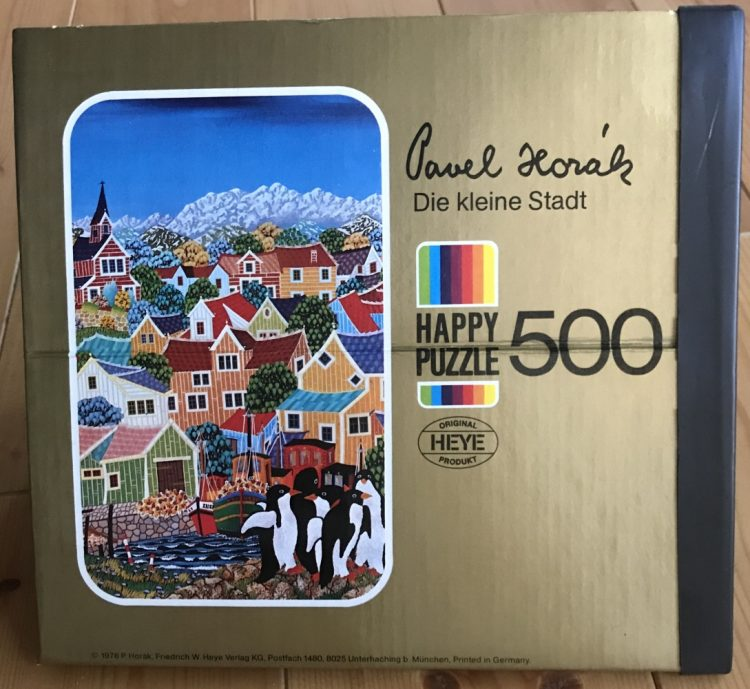 Image of the puzzle 500, Heye, Die Kleine Stadt, by Pavel Horák, Sealed Bag, Picture of the box
