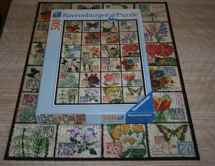 500, Ravensburger, Vintage Flora, Complete, Listed by Cathy, Picture of the box