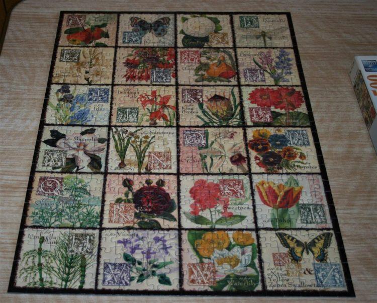 Image of the puzzle 500, Ravensburger, Vintage Flora, Complete, Puzzle assembled