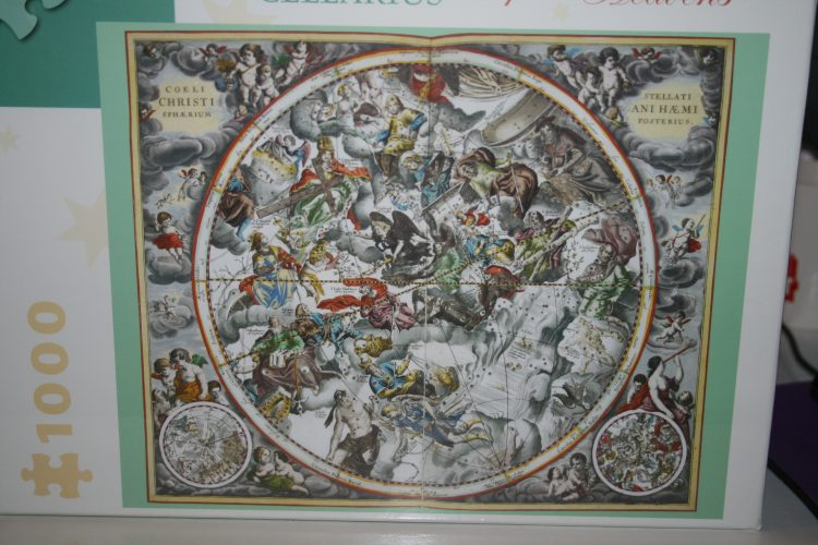 Image of the puzzle 1000, Pomegranate, Map of the Heavens, by Andreas Cellarius, Factory Sealed, Picture of the box