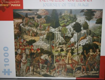 Image of the puzzle 1000, Pomegranate, Journey of the Magi, by Benozzo Gozzoli, Factory Sealed, Picture of the box