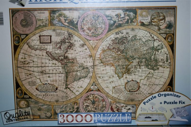 Image of the puzzle 3000, Clementoni, Old Map, Factory Sealed, Picture of the box