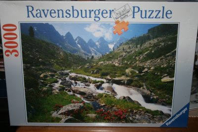 Image of the puzzle 3000, Ravensburger, Austrian Mountains, Tyrol, Austria