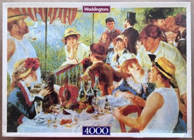 Image of the puzzle 4000, Waddingtons, Luncheon at the Boating Party, by Auguste Renoir, Sealed Bag, Picture of the box