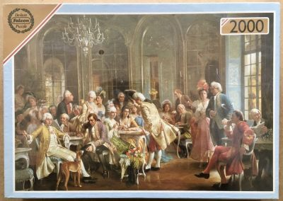 Image of hte puzzle 2000, Falcon, An Elegant Soirée, by August Knoop, Factory Sealed