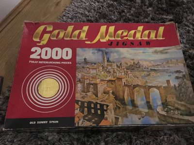 Image of the puzzle 2000, Tower Press, Old Sunny Spain, Complete, Picture of the box