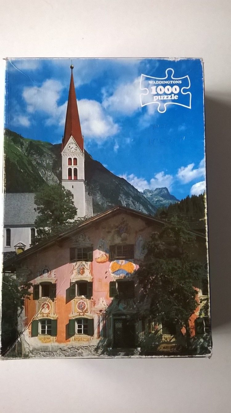 Image of the puzzle 1000, Waddingtons, Holzgau, Tirol, Austria, Complete, Picture of the box