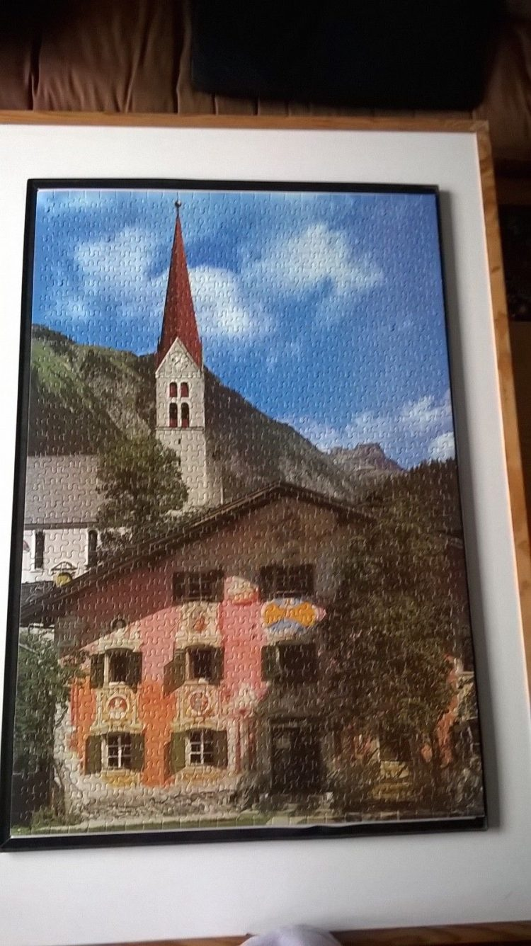 Image of the puzzle 1000, Waddingtons, Holzgau, Tirol, Austria, Complete, Picture of the puzzle assembled