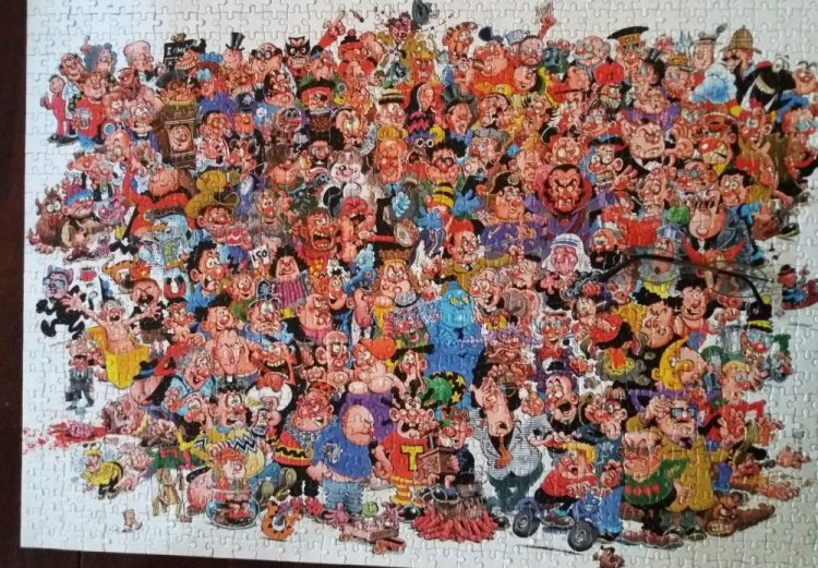 Image of the puzzle 1000, Paul Lamond, Viz, Complete, Picture of the puzzle assembled