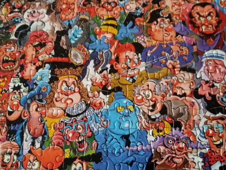 Image of the puzzle 1000, Paul Lamond, Viz, Complete, Detail of the puzzle
