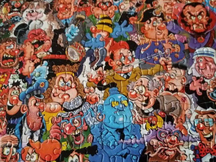 Image of the puzzle 1000, Paul Lamond, Viz, Complete, Detail of the puzzle