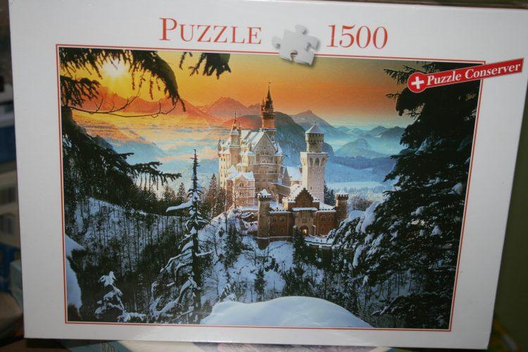 Image of the puzzle 1500, Blatz, Neuschwanstein Castle, by Bildagentur Huber, Factory Sealed
