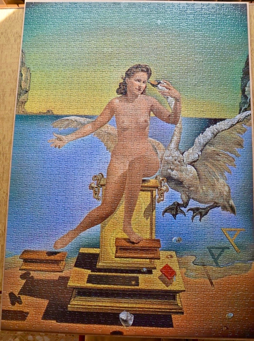 Image of the puzzle 1500, Educa, Leda Atomica, by Salvador Dalí, Blog Post