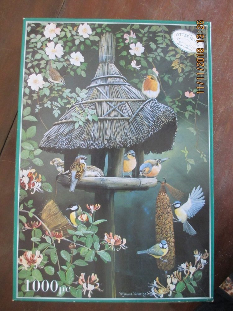 Image of the puzzle 1000, Otter House, The Bird Table, by Pollyanna Pickering, Complete, Picture of the box