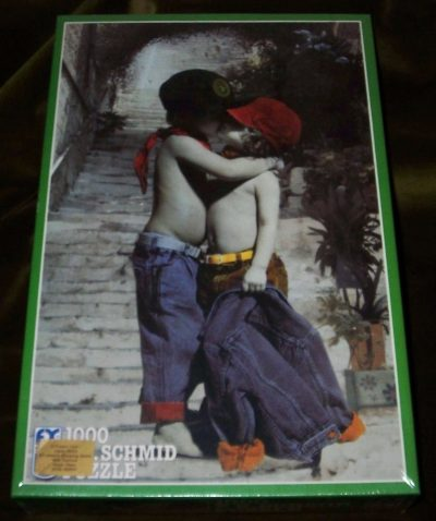 Image of the puzzle 1000, F. X. Schmid, First Love, Factory Sealed