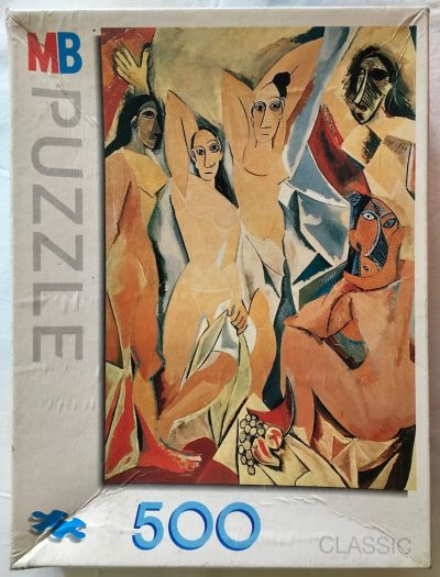 Image of the puzzle 500, MB, The Young Ladies of Avignon, by Picasso, Picture of the box