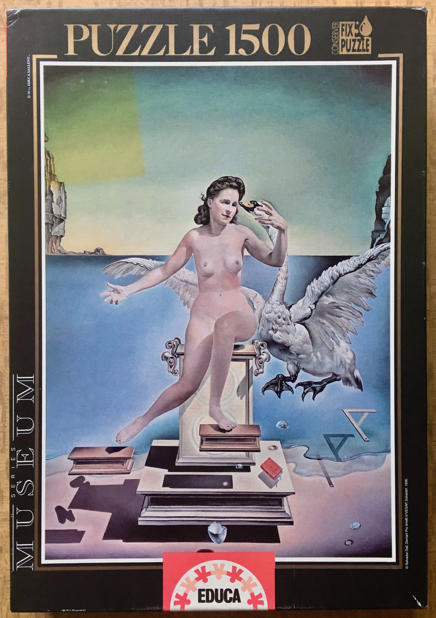 Image of the puzzle 1500, Educa, Leda Atomica, by Salvador Dalí, Picture of the box, Blog Post