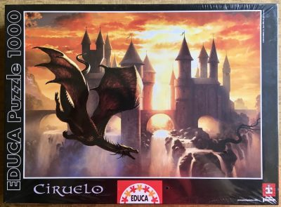Image of the puzzle 1000, Educa, Sunset Dragon, by Ciruelo, Factory Sealed