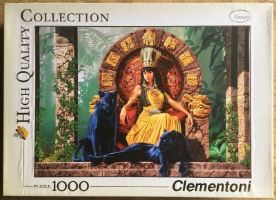 Image of the puzzle 1000, Clementoni, Aztec Queen, by Lorenzo di Mauro, Picture of the box