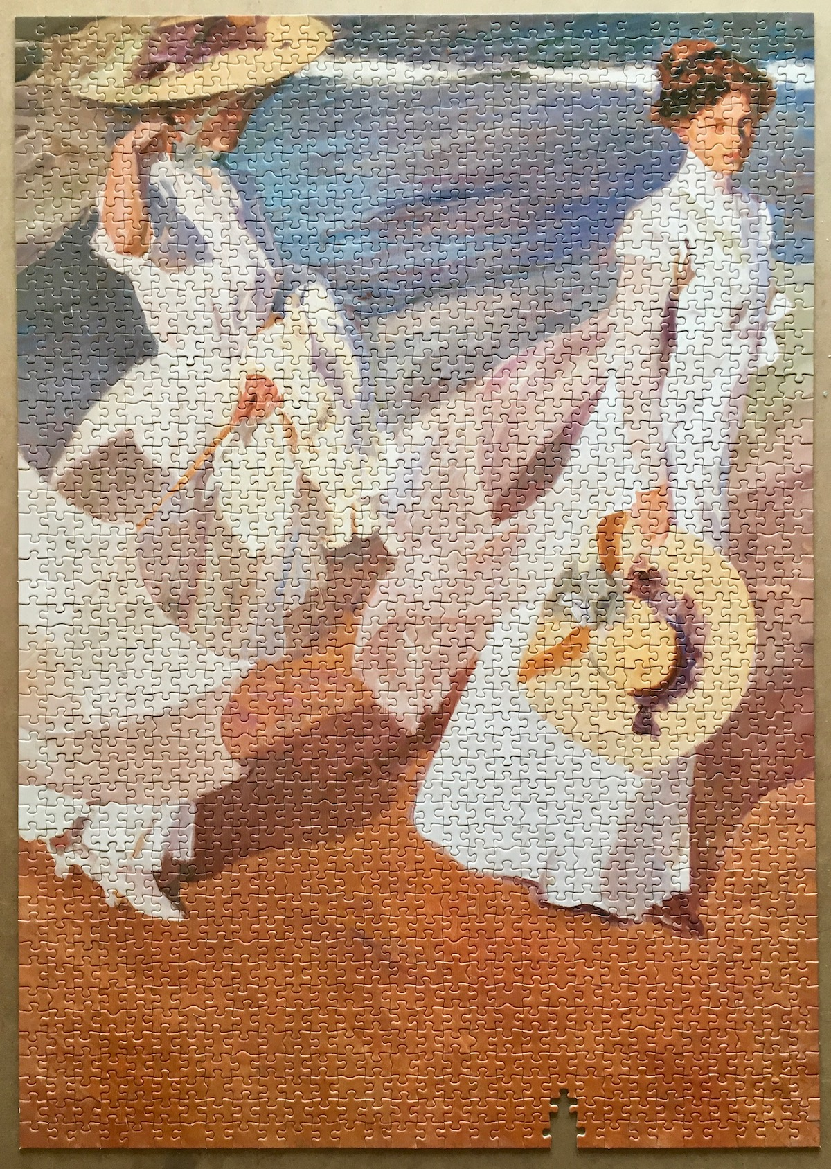 Image of the puzzle 1500, Educa, Walk on the Beach, by Joaquín Sorolla, Picture of the puzzle assembled