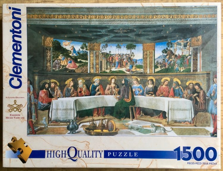 Image of the puzzle 1500, Clementoni, The Last Supper, by Cosimo Rosselli, Factory Sealed