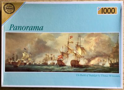 Image of the puzzle 1000, Falcon, The Battle of Trafalgar, by Thomas Whitcombe, Picture of the box