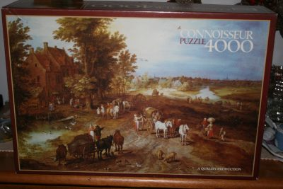 Image of the puzzle 4000, Arrow, Village Landscape, by Jan Brueghel the Elder, Sealed Bag, Picture of the box
