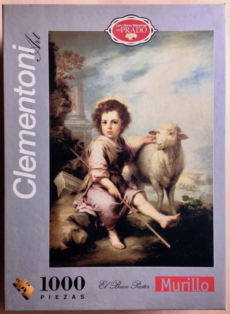 Image of the puzzle 1000, Clementoni, The Good Shepherd, by Murillo, Sealed Bag, Picture of the box