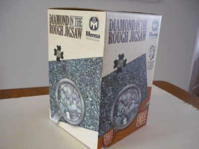Image of the puzzle 1000, Mensa, Diamond in the Rough Jigsaw, Complete, Picture of the box