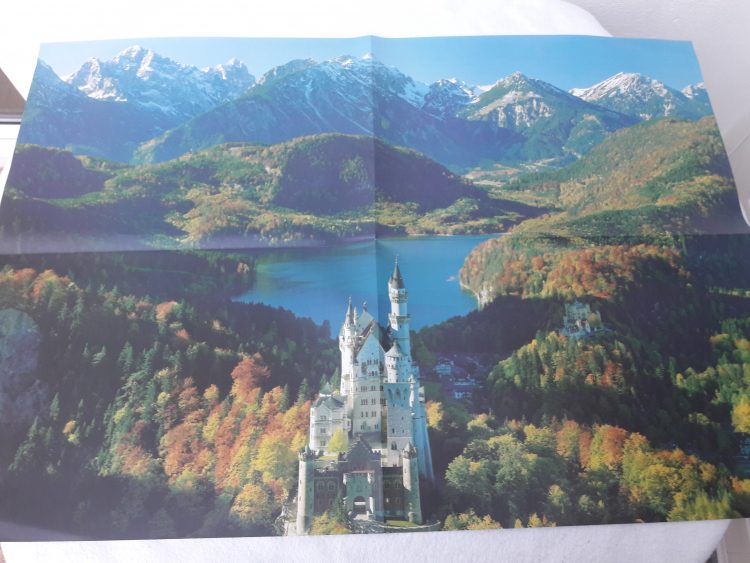 Image of the puzzle 12000, Ravensburger, Neuschwanstein Castle, Sealed Bag, Picture of the poster